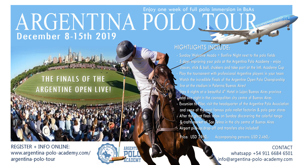 Argentina Polo Tour 2019 High Goal Polo in Buenos Aires