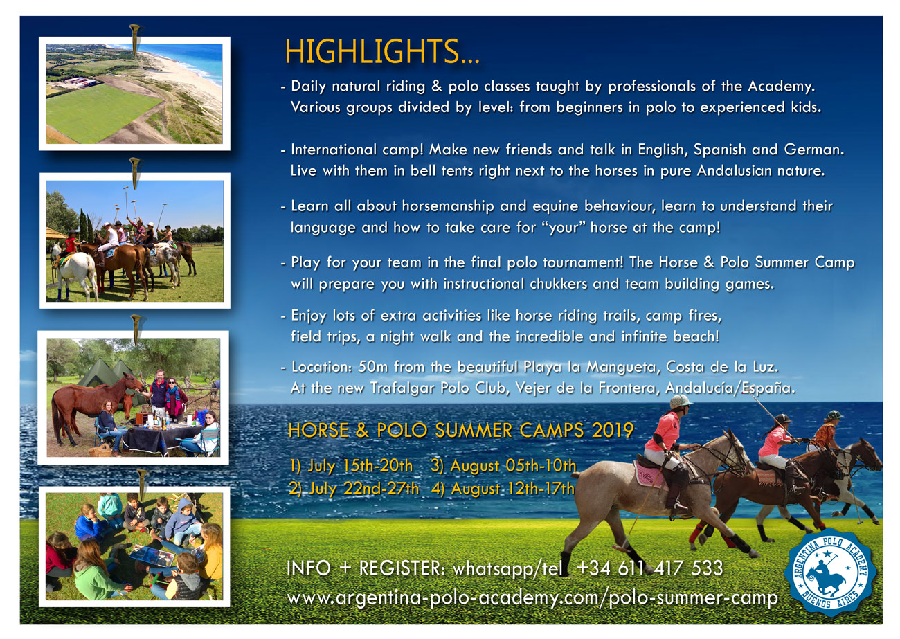 Horse + Polo Summer Camp Spain Andalusia 2019